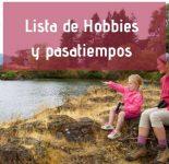 Lista de Hobbies y Pasatiempos