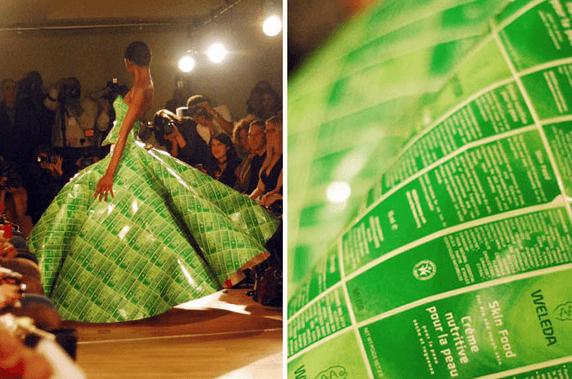 Prendas de vestir con material reciclado