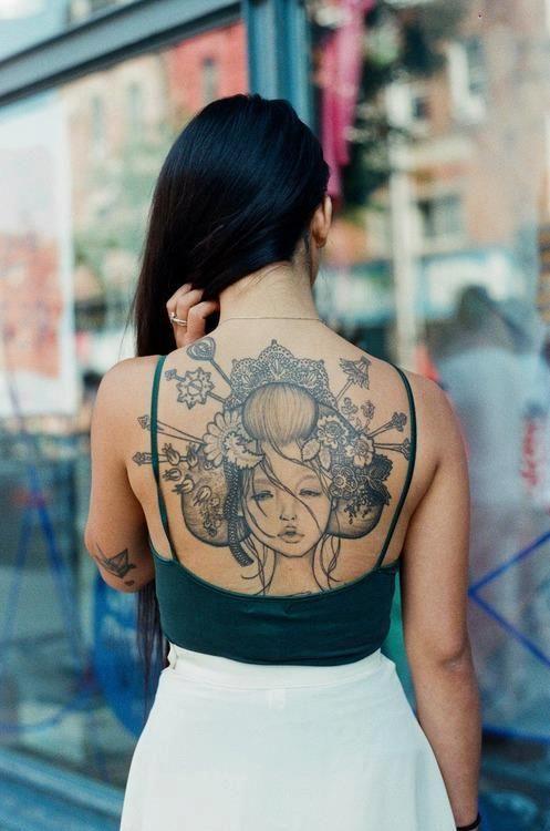 Fotos de tatuajes para la espalda para mujeres