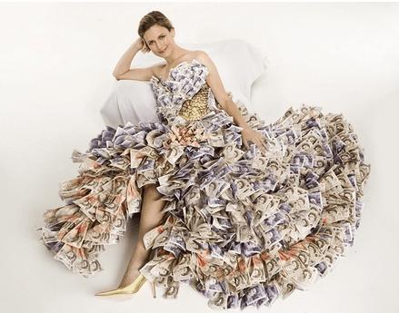 Vestido material reciclado