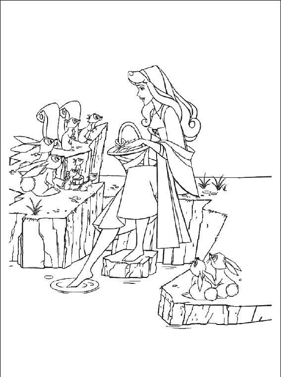 Imagenes de princesas para colorear 40 plantillas disney - Plantillas para pintar ...