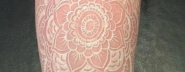 tatuaje tinta blanca