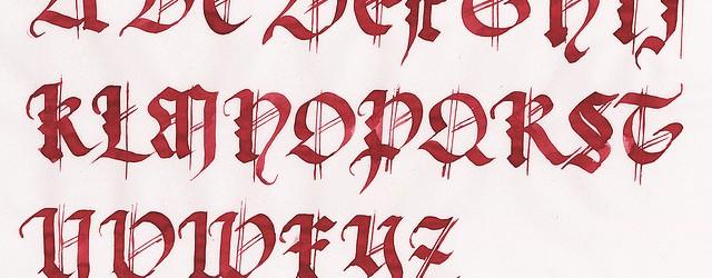 letras gothicas: