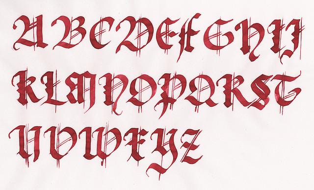 Mi nombre en letras goticas para tatuajes